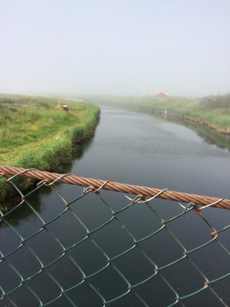 Bilde fra broe på Bore