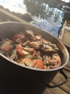 Årets siste krabbemåltid.