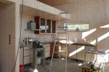 Kjøkkenet på plass