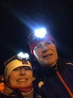 Nattlig skitur i Suldal